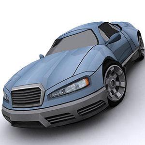 3d model sport concept car