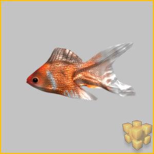 3d model goldfish fish