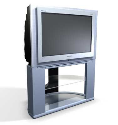 samsung plano tv set 3d model