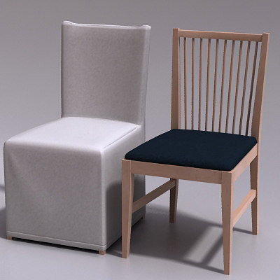 3d max klitten stuhl