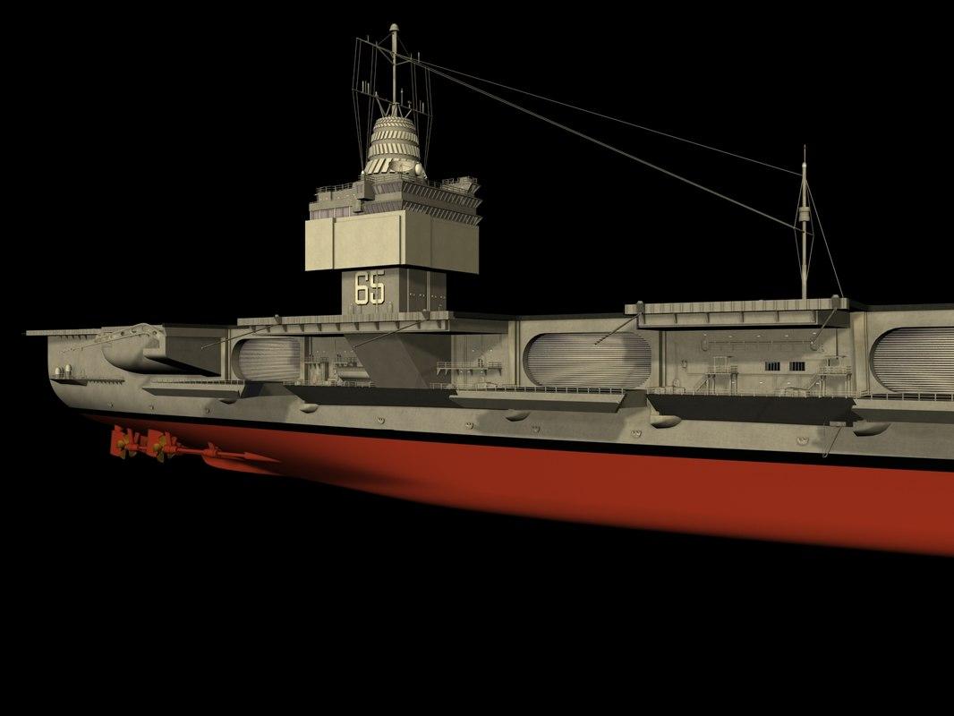 enterprise aircraft carrier 3d model