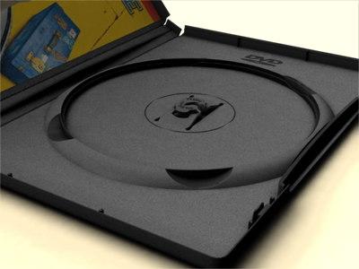amaray dvd case 3d model