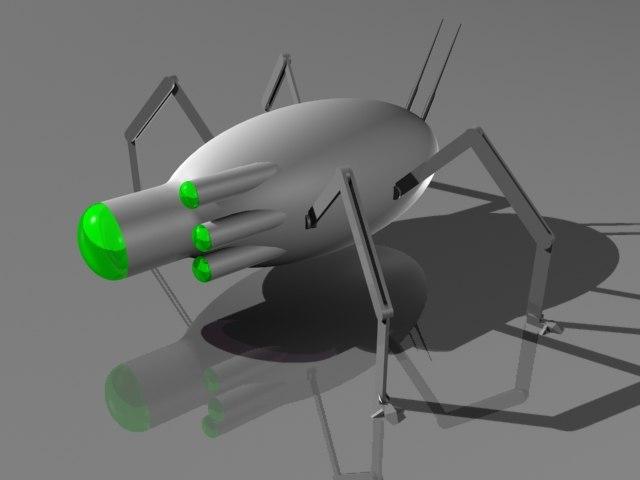3d model robotic insect