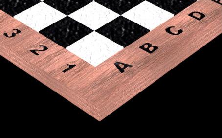 chessboard board 3d model