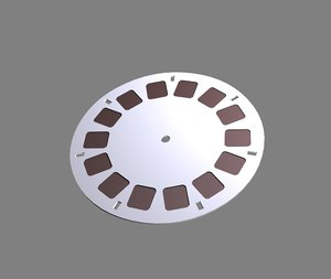 viewmaster disc 3d model