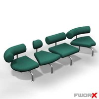 3ds max airport chair