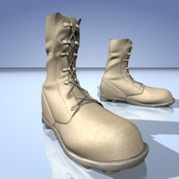 army boots 3d model