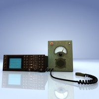3d military communication devices model