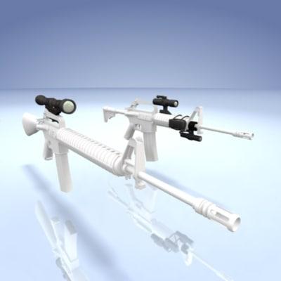 telescopic sights video camera 3d model