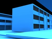 3d school construction model