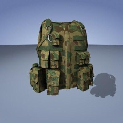 vest military 3d model