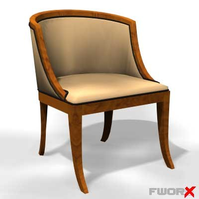 armchair old fashioned 3d max