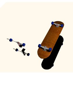 skateboard s 3d model
