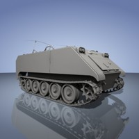 3d model army apc m113