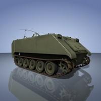 army apc m113 3d model
