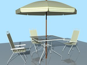 outdoor furniture chair table 3d max