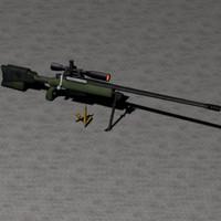 mcmillan tac-50 rifle 3d max