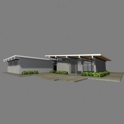 3d model of joseph eichler home