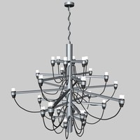 3d gino sarfatti lamp model