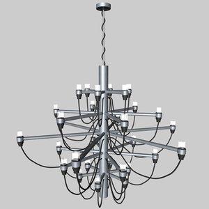 3d gino sarfatti lamp model