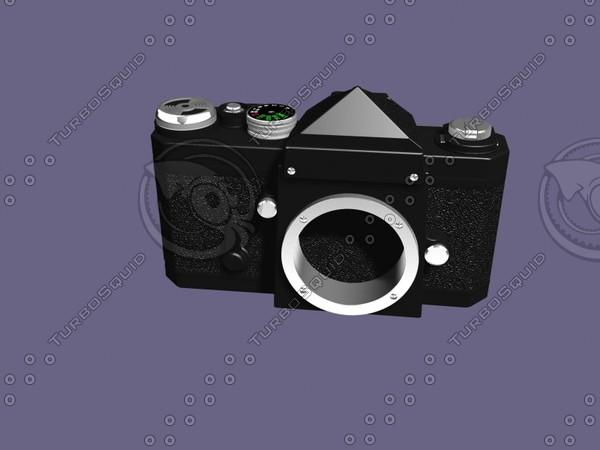 camera nikon 3d model