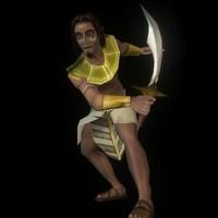 egyptian warrior 3d model