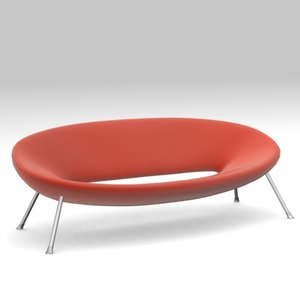 ploof sofa philippe starck 3d model