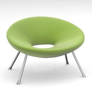 armchair philippe starck sofa 3d model