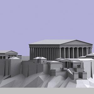 acropolis athens 3d model