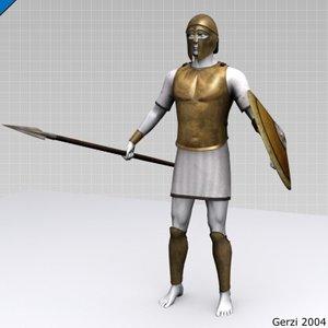 greek hoplite armour set 3d model
