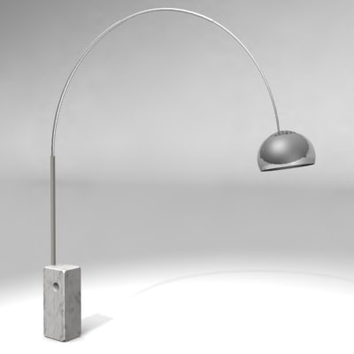 arco lamp castiglioni 3d model