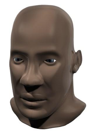 3d black man head model