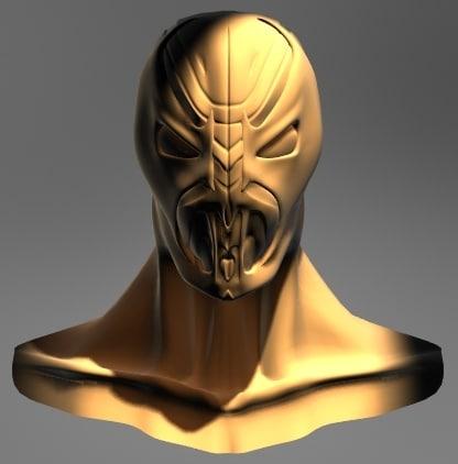 3d spawn head model