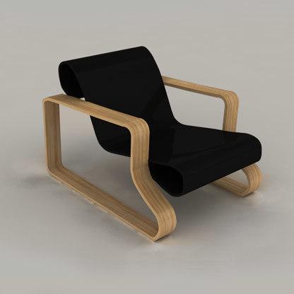3d model of chair alvaro aalto