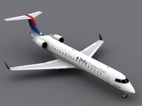 canadair rj-700 delta connection 3d dxf