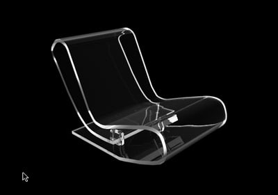 lcp chair 3d 3ds