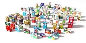 set medecines 3d max