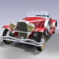 antique roadster 3d max