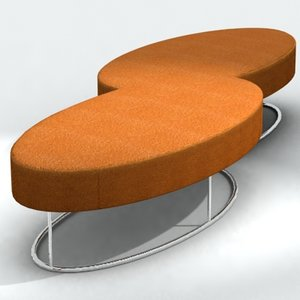3ds twice bench pouffe jacob