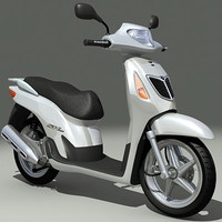 honda snoopy scooter 3d model