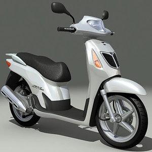 honda snoopy scooter 3d model