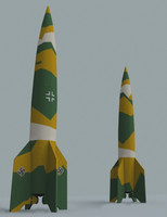 missile germany war 3d model