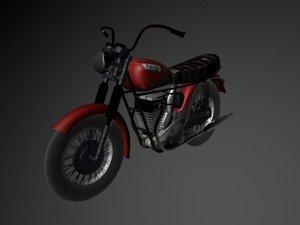 3d model triumph motorcycle