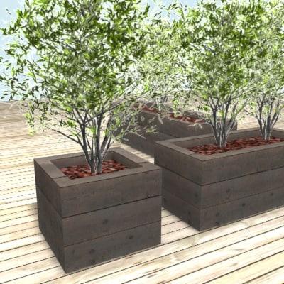 jardiniere plant holder shrub 3d model