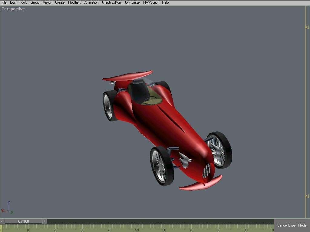 3d retro racing cars tuned model