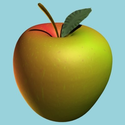 3d model apple leaf