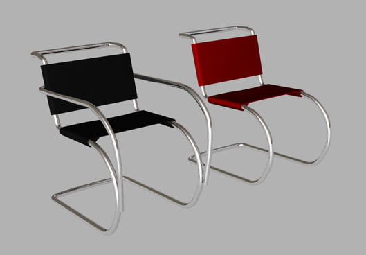 3d model mr10 cantilever chair