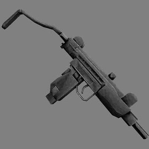 mini uzi 9mm submachine gun 3d lwo