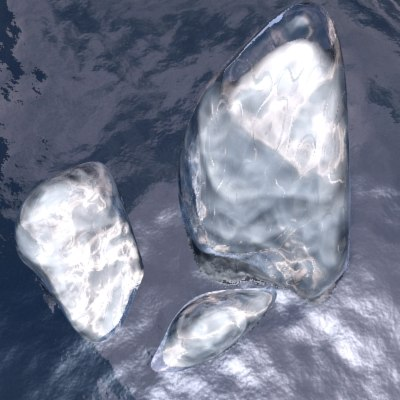 free ice berg iceberg 3d model