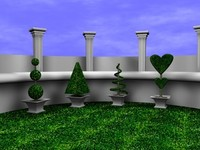 Topiary Garden w/Scene